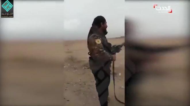 تیرباران اسیر داعشی در سوریه