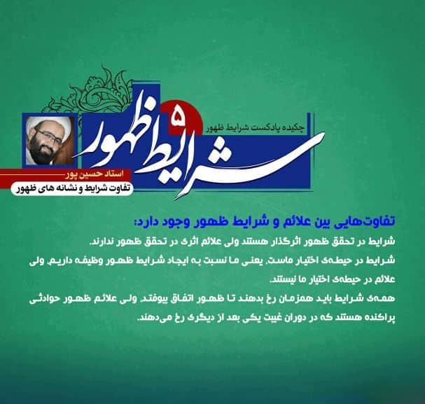 sound sharayete zohoor5 - شرایط ظهور سخنرانی استاد حسین پور